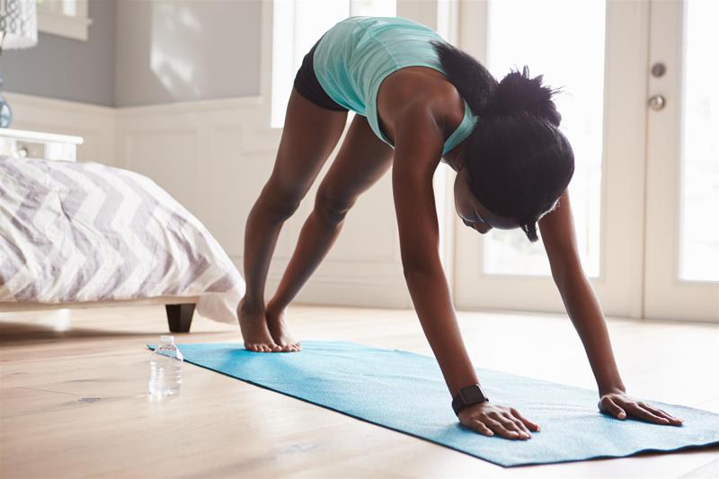 Yoga routine beauté