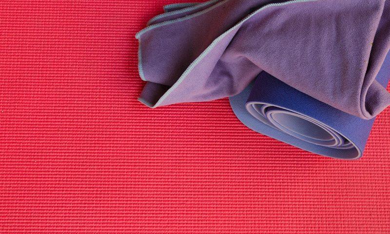 yoga serviette anti dérapante